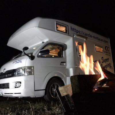 カークル レンタルキャンピングカー 冬キャンプ